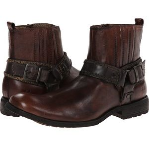 New Bed Stu Innovator Boots Brown Leather Mens 8